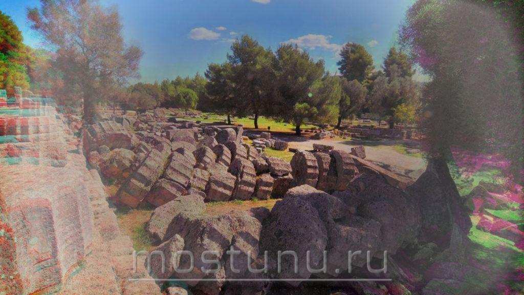 Развалины храма Олимпии