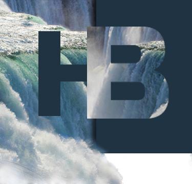Буквы НВ - Ниагарский водопад